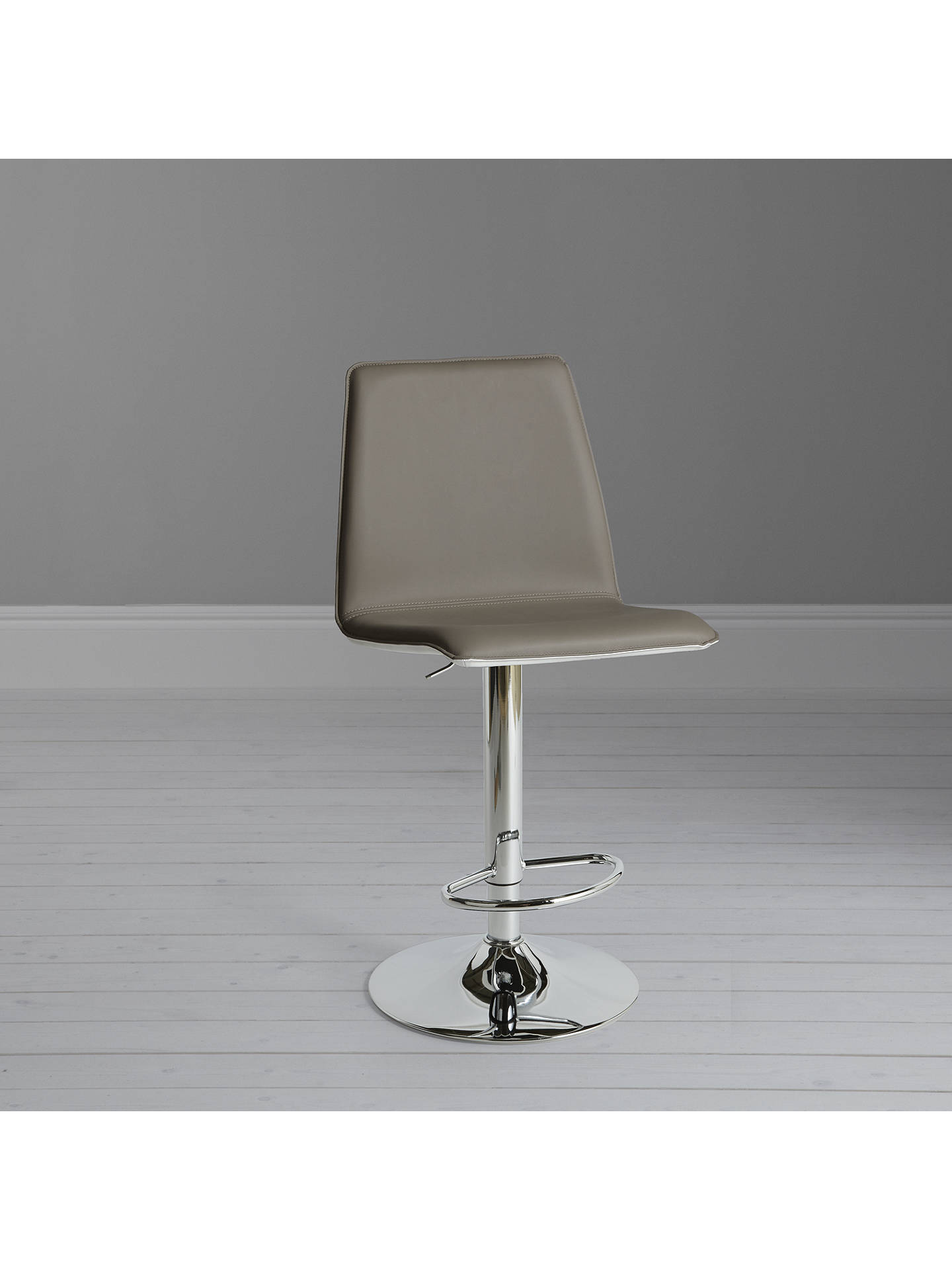BuyJohn Lewis & Partners Xavier II Gas Lift Bar Chair, Taupe/Cream Online at johnlewis.com