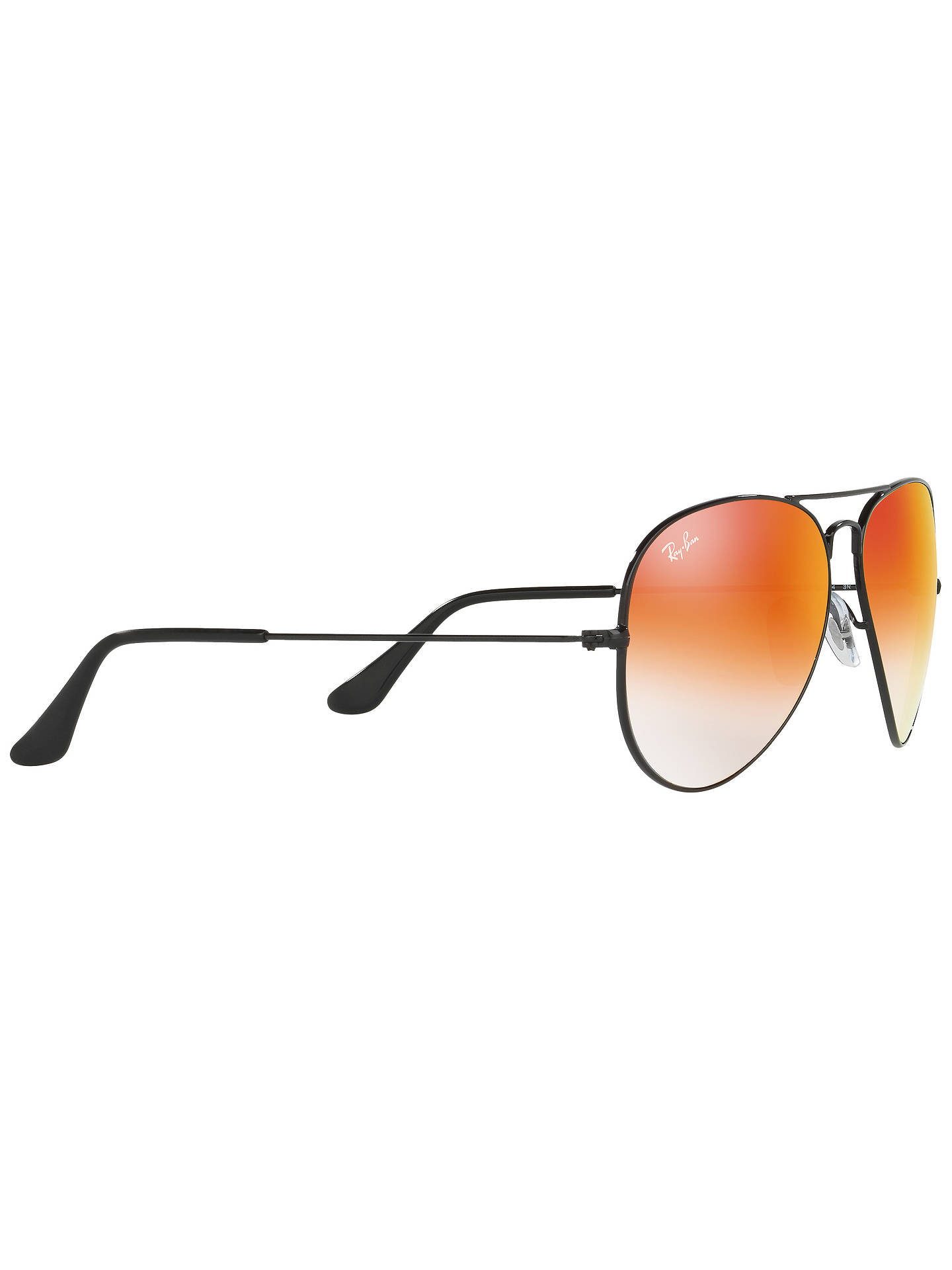 Buy Ray-Ban RB3025 Aviator Sunglasses, Black/Orange Online at johnlewis.com