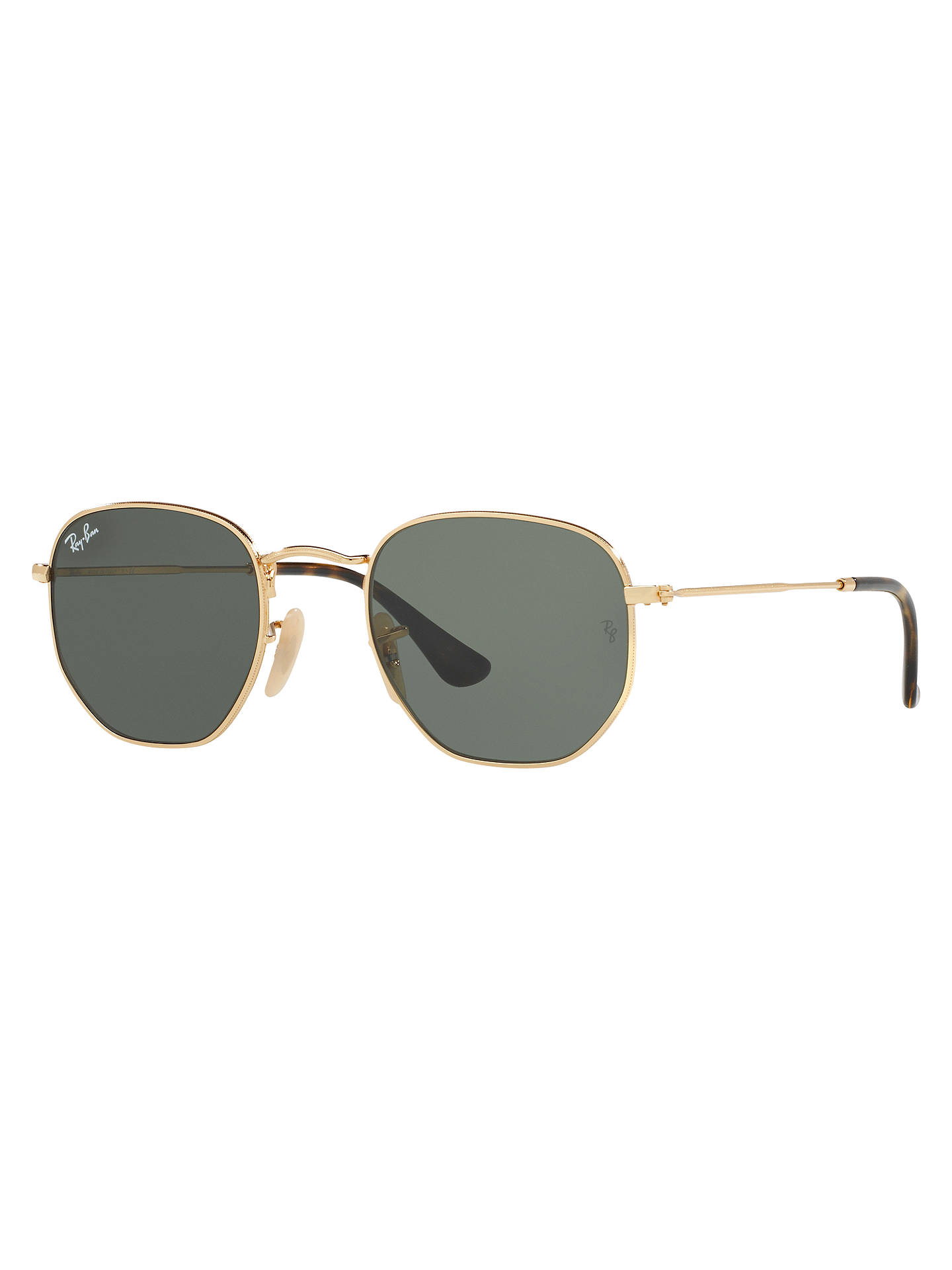 48afc4b9c8 Ray-Ban RB3548 Hexagonal Flat Lens Sunglasses at John Lewis   Partners