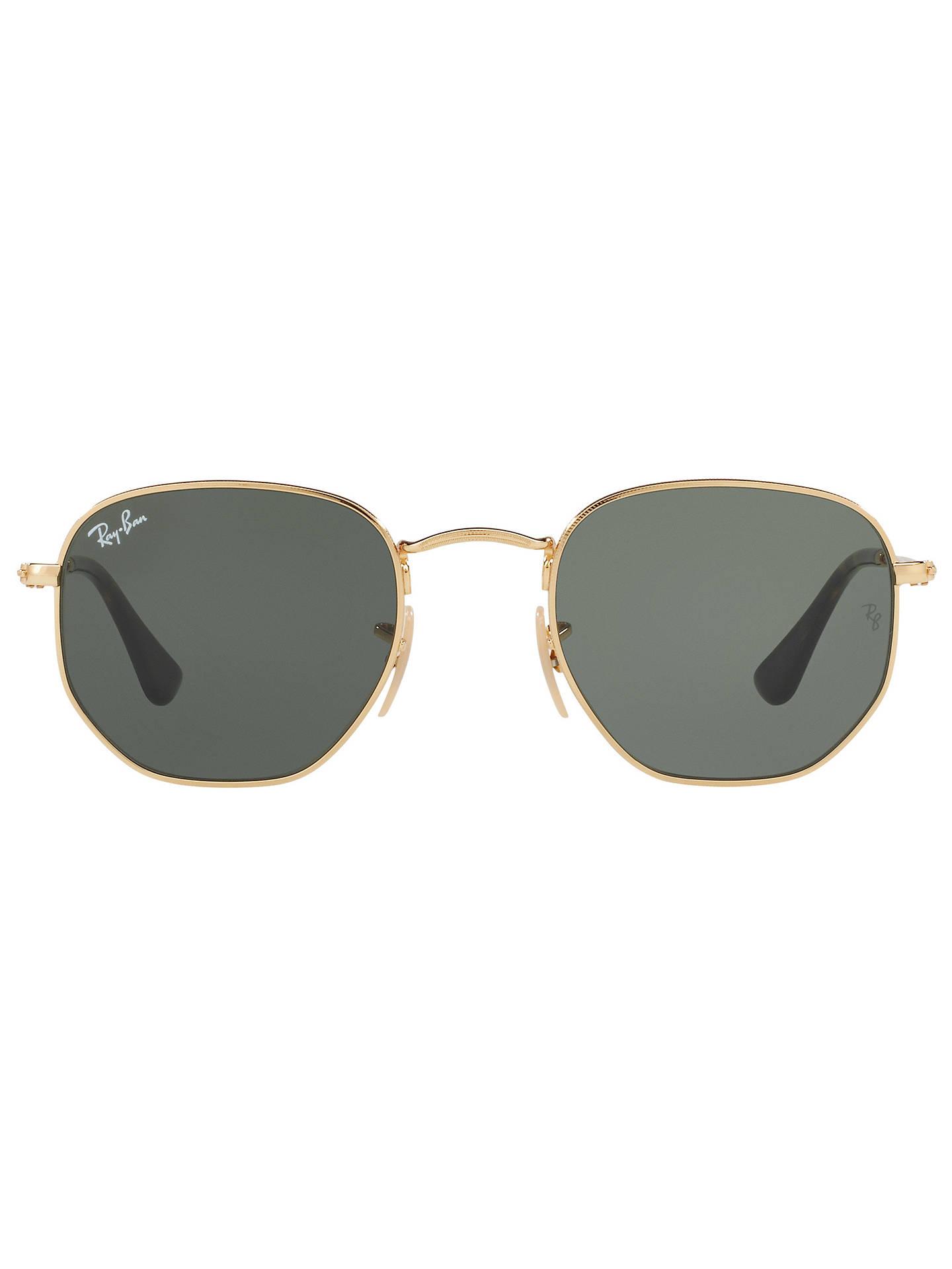 9bc46c3f837 Ray-Ban RB3548 Hexagonal Flat Lens Sunglasses at John Lewis   Partners
