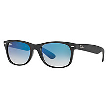 Buy Ray-Ban RB2132 New Wayfarer Sunglasses, Black/Blue Gradient Online at johnlewis.com