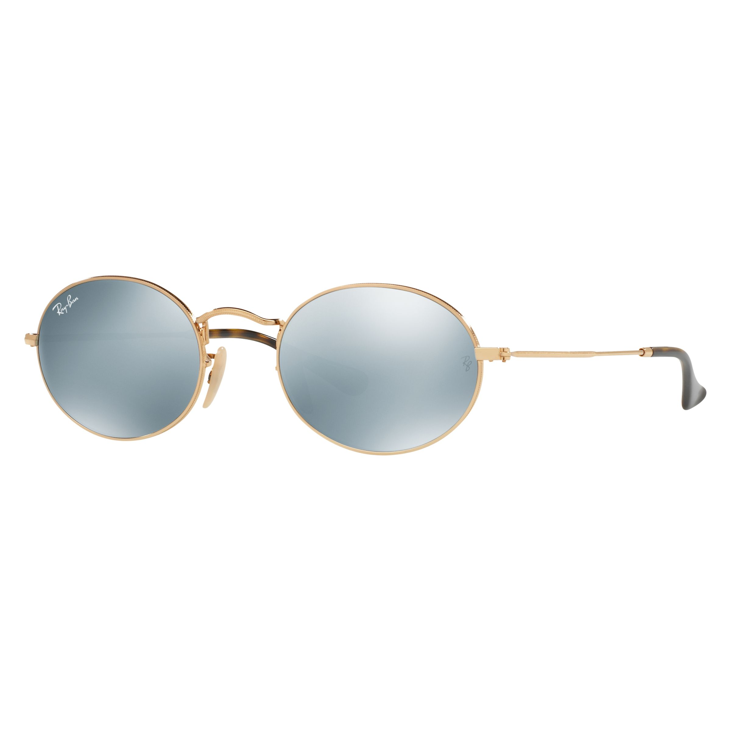 15db9d1198 Ray-Ban RB3547 Oval Flat Lens Sunglasses at John Lewis   Partners