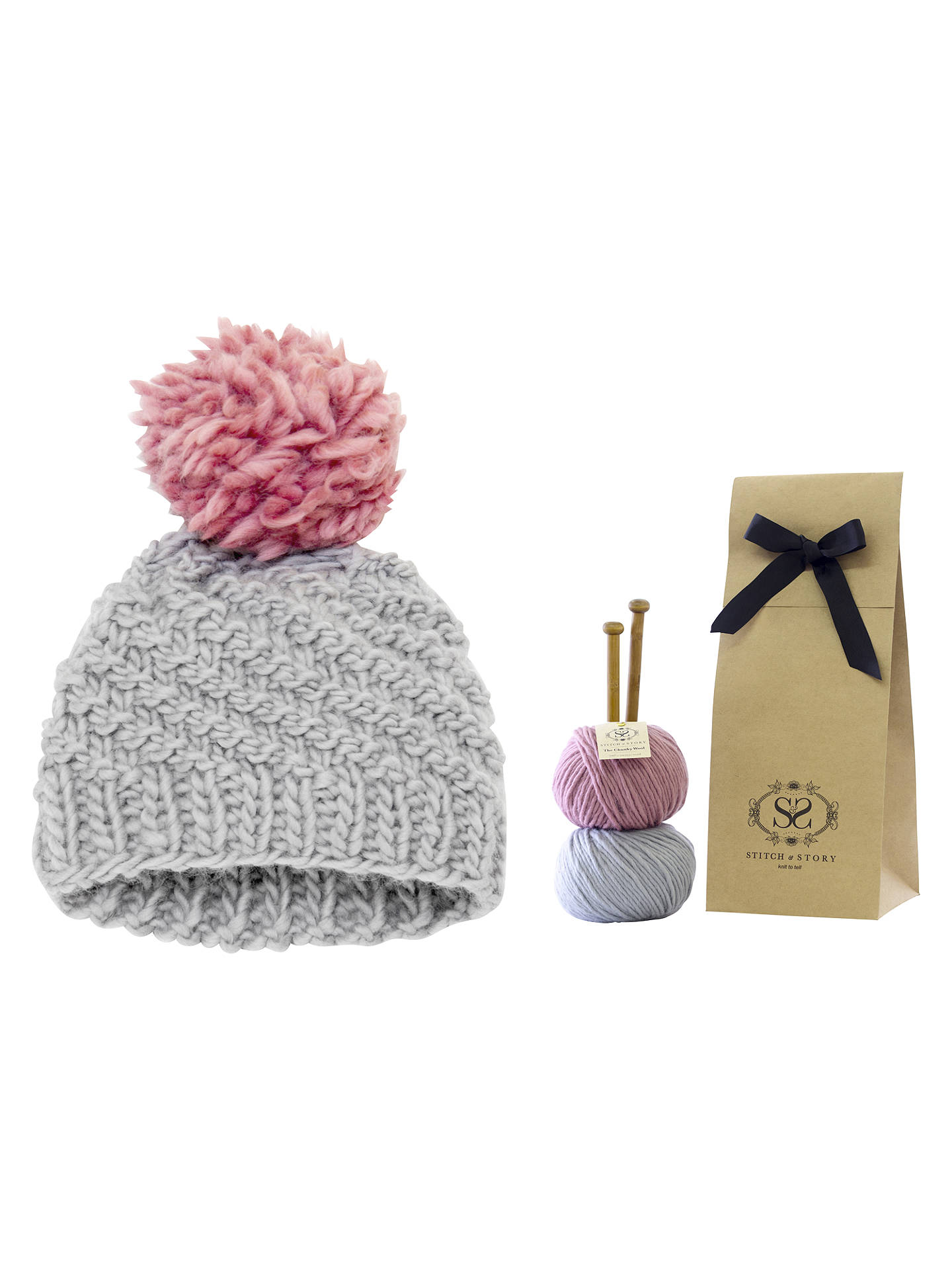 1c254119c23 Buy Stitch   Story Luca Pom Pom Hat Kit Online at johnlewis. ...