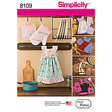 Buy Simplicity Craft Towel Dress and Glove Sewing Pattern, 8109 Online at johnlewis.com