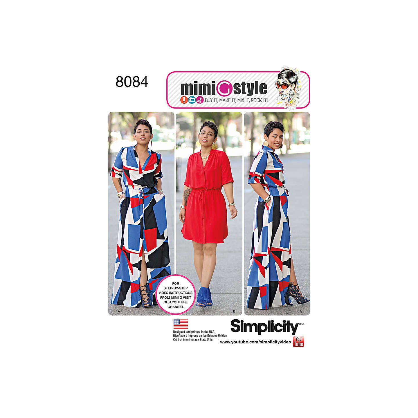 Simplicity Womens Plus Size Dresses Sewing Pattern 8084 At John Lewis