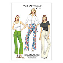 Buy Vogue Women's Trouser Sewing Pattern, 9181 Online at johnlewis.com