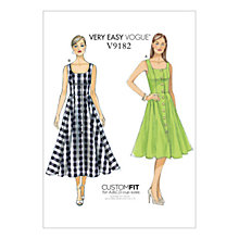 Buy Vogue Misses' Women's Button Down Dress Sewing Pattern, 9182 Online at johnlewis.com