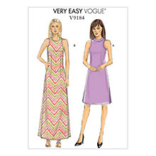 Buy Vogue Misses' Women's Petite Dress Sewing Pattern, 9184 Online at johnlewis.com