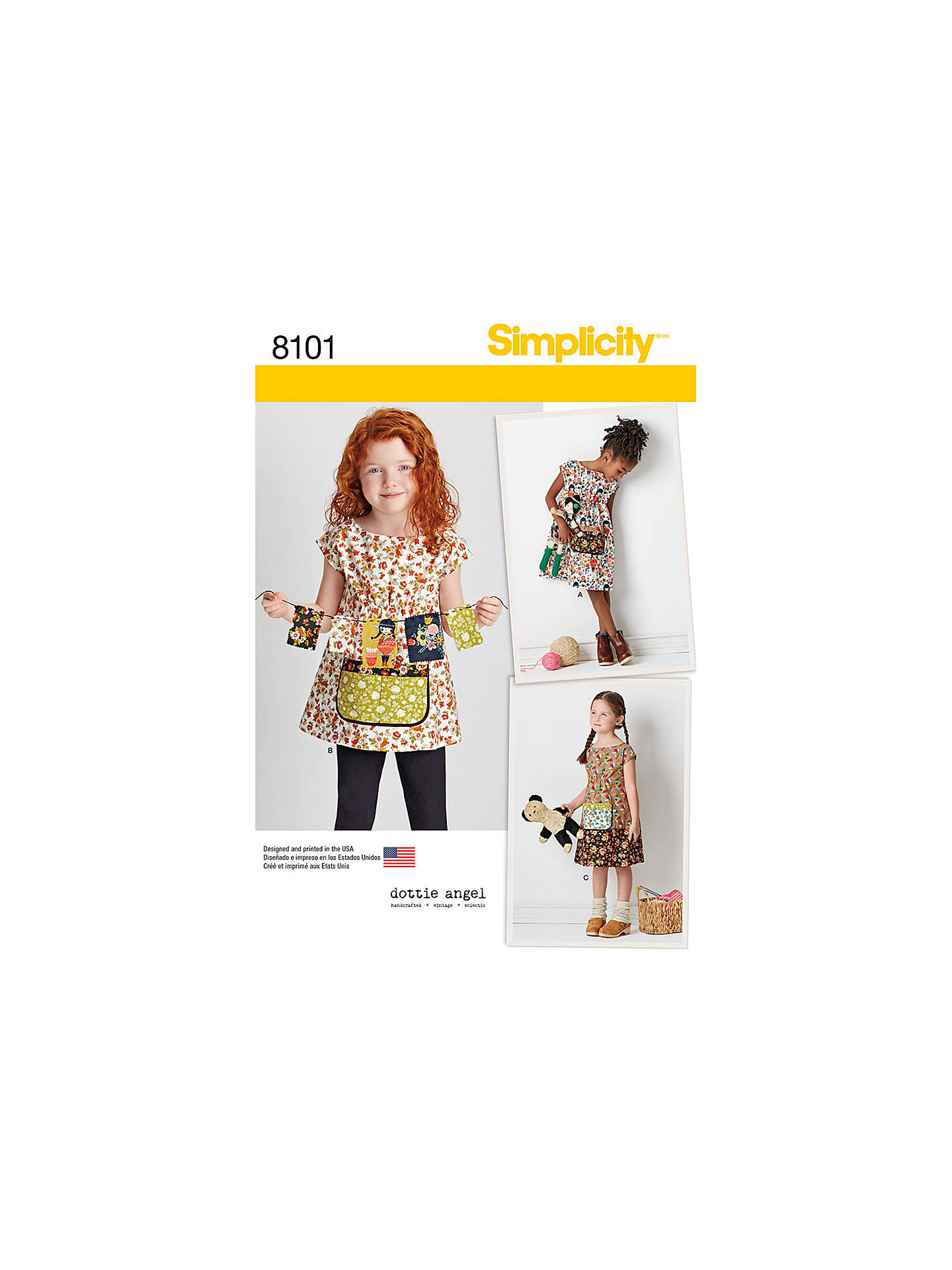Simplicity Dottie Angel Children\'s Dress Sewing Pattern, 8101 at ...