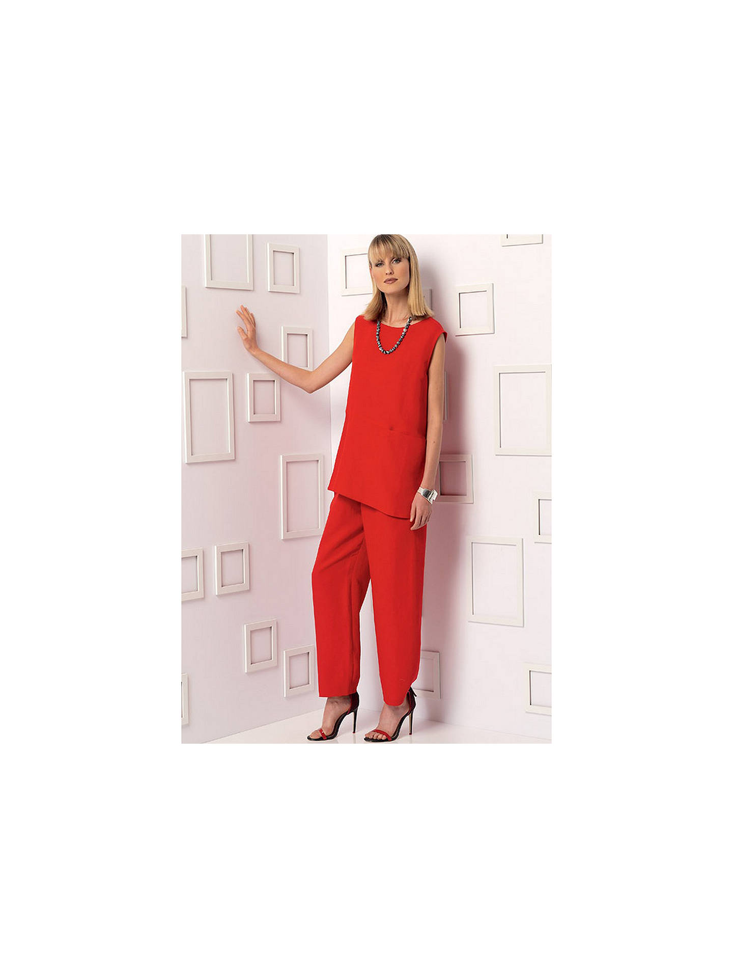 Buy Vogue Misses' Women's Top and Trousers Sewing Pattern, 9193, F5 Online at johnlewis.com