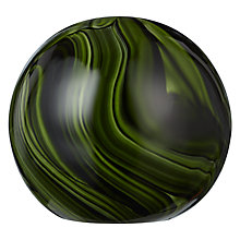 Buy John Lewis 10cm Marble Paperwieight, Green Online at johnlewis.com