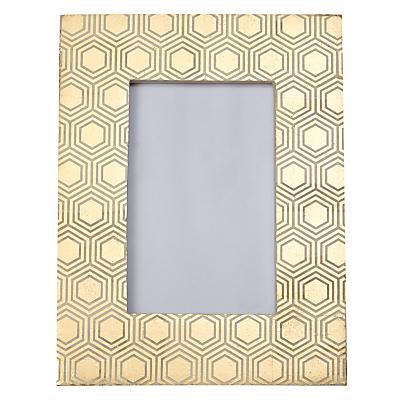John Lewis Hexagon Photo Frame, 5 x 7 (13 x 18cm), Gold