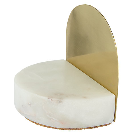 Buy Design Project by John Lewis No.073 Marble and Brass Bookends, Multi Online at johnlewis.com