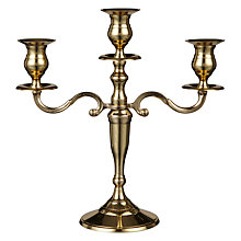 Buy John Lewis 3-Arm Brass Candelabra Online at johnlewis.com