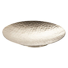 Buy John Lewis Hammered Silver Plate, Small Online at johnlewis.com