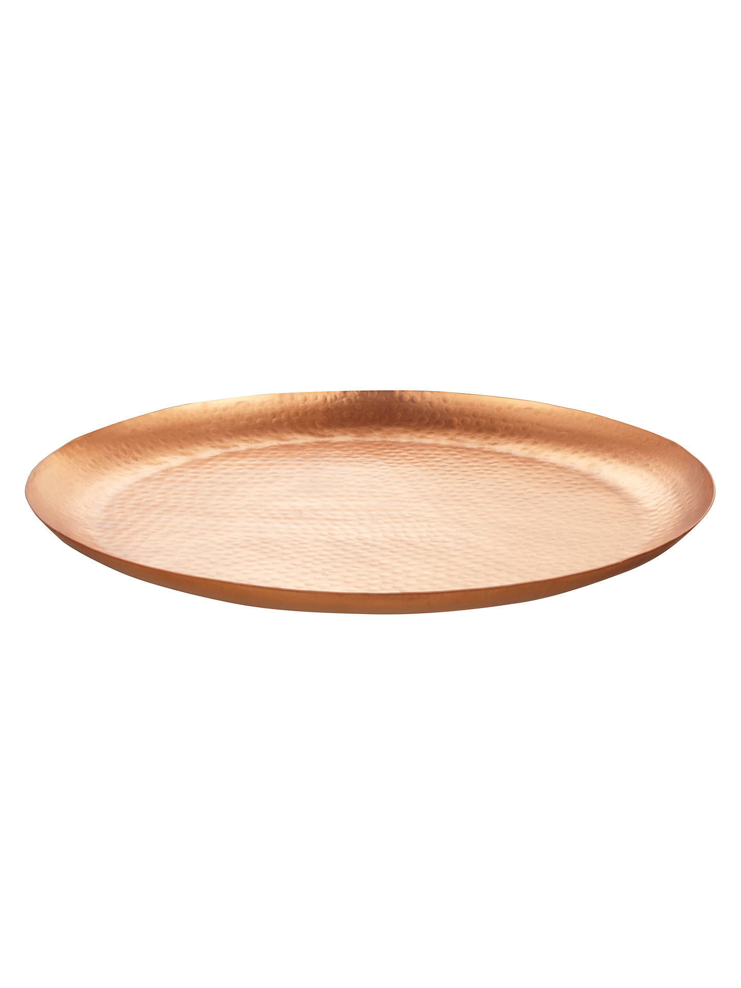BuyJohn Lewis & Partners Hammered Large Plate, Copper Online at johnlewis.com