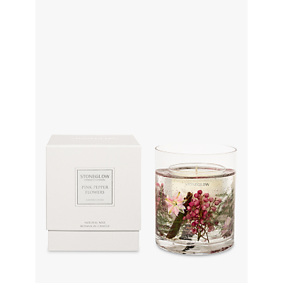Stoneglow Nature's Gift Pink Peppercorn Scented Gel Candle