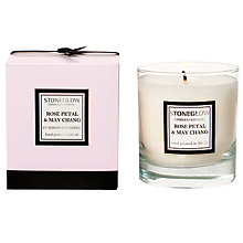 Buy Stoneglow Modern Classics Rose Petal and May Chang Scented Candle Online at johnlewis.com