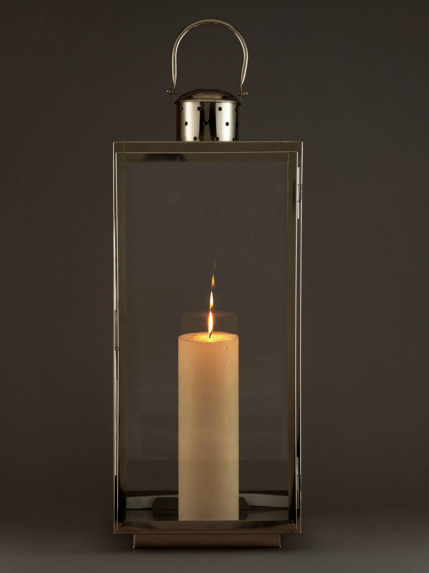 Buy John Lewis & Partners Mayfair Rectangle Candle Holder, Large Online at johnlewis.com