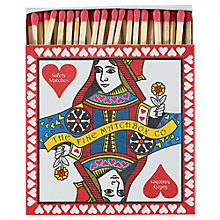 Buy Archivist Queen Of Hearts Square Box of Matches Online at johnlewis.com