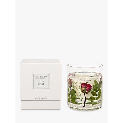 Stoneglow Nature's Gift Red Roses Scented Gel Candle