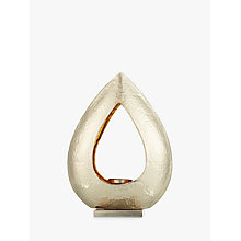 Buy John Lewis Hammered Teardrop Tealight Holder Online at johnlewis.com