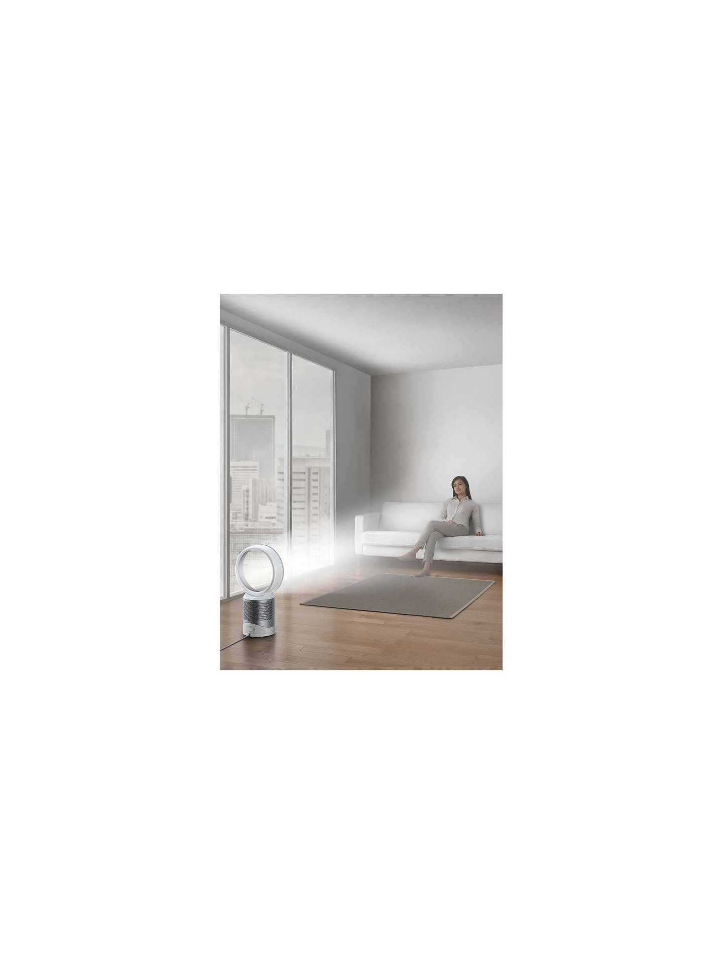 BuyDyson Pure Cool Link Purifying Desk Fan, White/Silver Online at johnlewis.com