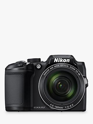 "Nikon COOLPIX B500 Digital Camera, 16MP, HD 1080p, 40x Optical Zoom, Wi-Fi, Bluetooth, 3"" LCD Screen, Black"