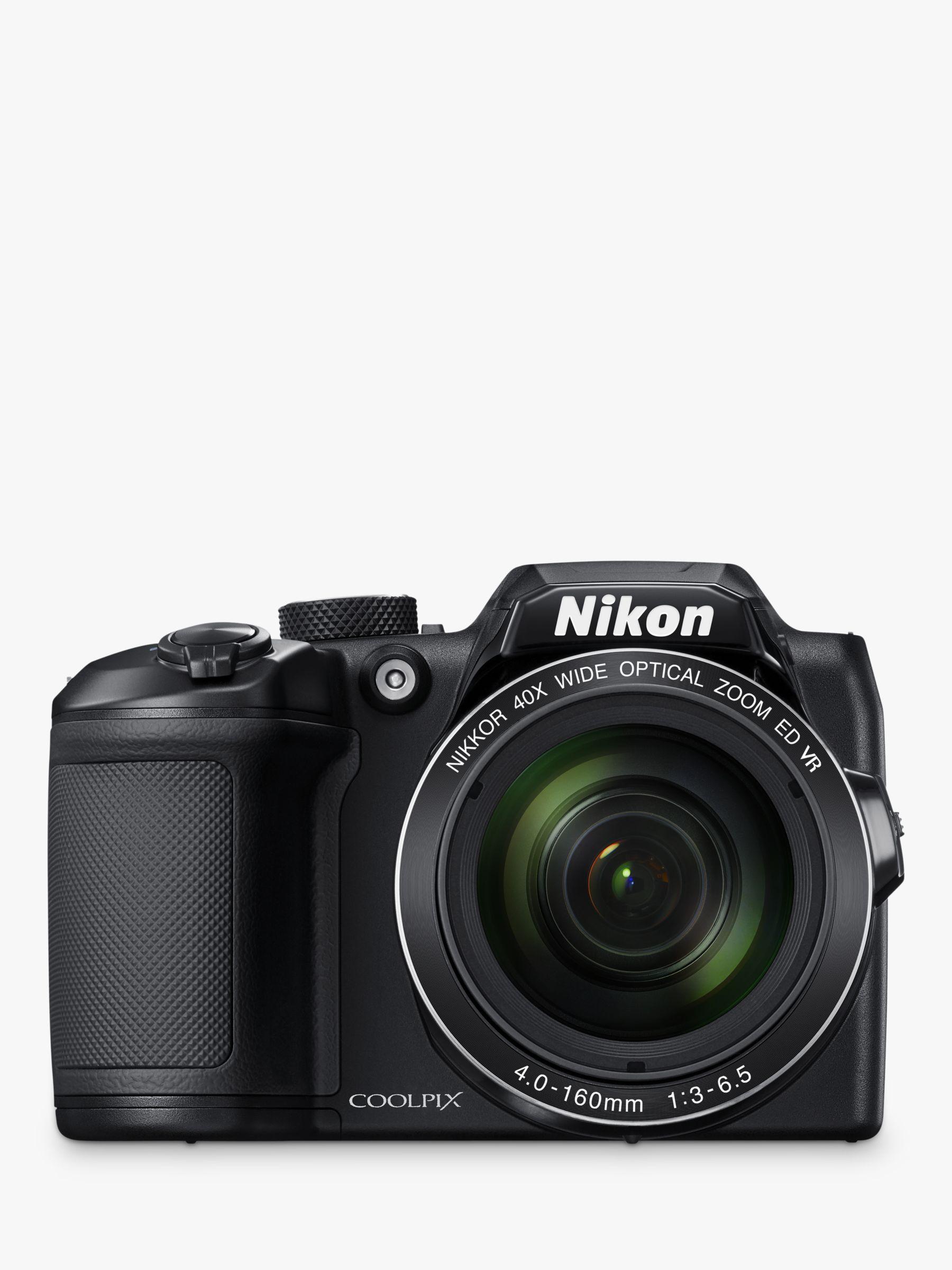Nikon Nikon COOLPIX B500 Digital Camera, 16MP, HD 1080p, 40x Optical Zoom, Wi-Fi, Bluetooth, 3 LCD Screen, Black