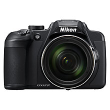 "Buy Nikon COOLPIX B700 Bridge Camera, 20.3MP, 4K UHD, 60x Optical Zoom, Wi-Fi, Bluetooth, 3"" Vari-Angle LCD Screen, Black Online at johnlewis.com"