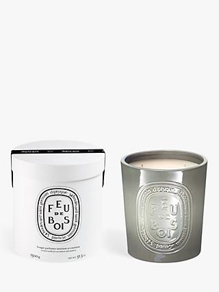 Diptyque Large Indoor & Outdoor Feu de Bois Scented Candle, 1500g