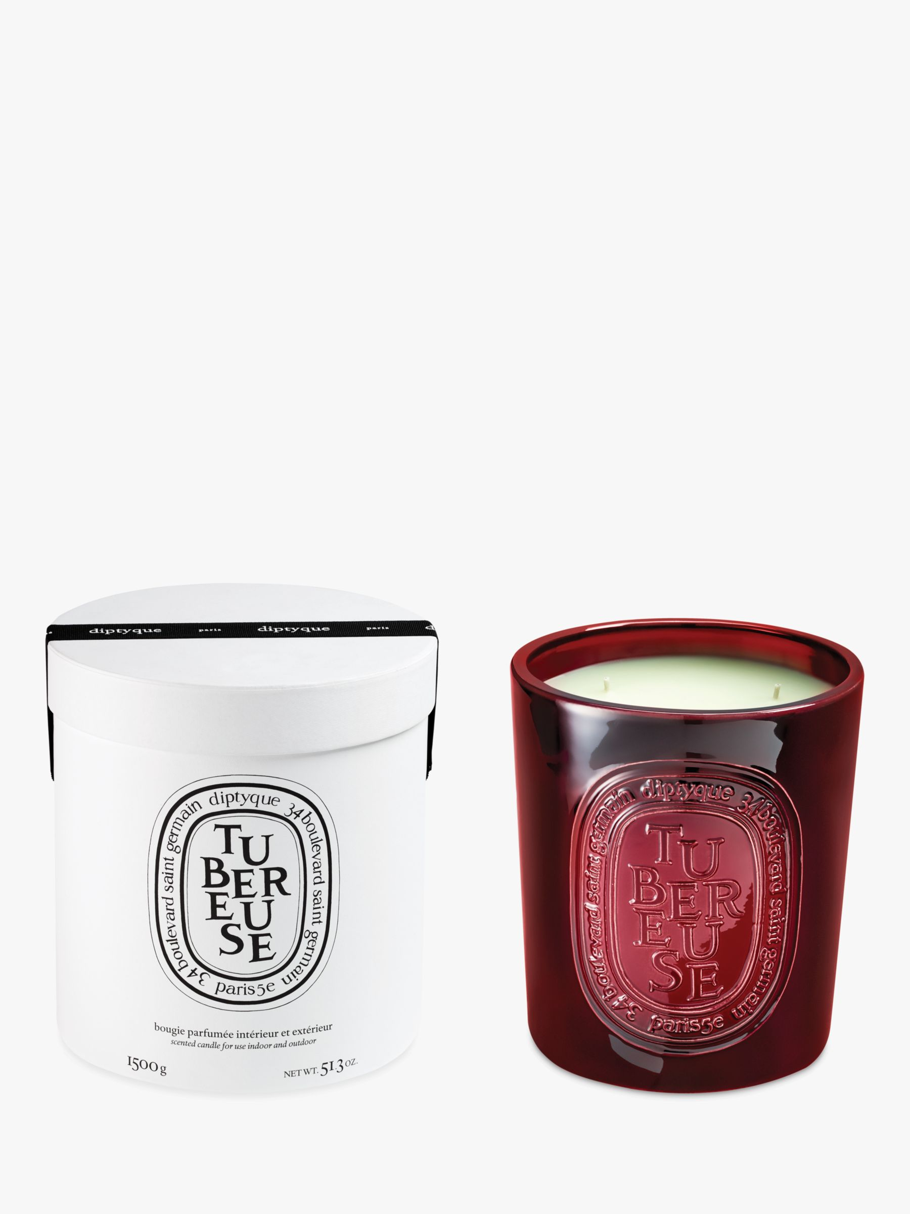 Diptyque Diptyque Large Indoor & Outdoor Tubéreuse Scented Candle, 1500g