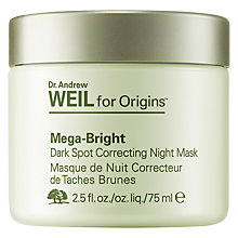 Buy Dr. Andrew Weil for Origins™ Mega-Bright Dark Spot Correcting Night Mask, 75ml Online at johnlewis.com