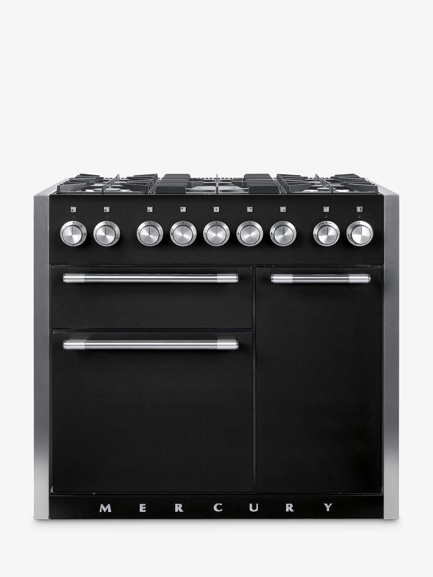 Buy Mercury 1000 Dual Fuel Range Cooker, Black Online at johnlewis.com