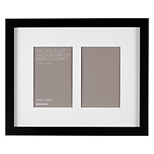 "Buy John Lewis Multi-aperture Box Photo Frame, 2 Photo, 4 x 6"" (10 x 15cm) Online at johnlewis.com"
