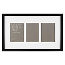 "Buy John Lewis Multi-aperture Box Photo Frame, 3 Photo, 5 x 7"" (13 x 18cm) Online at johnlewis.com"