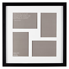 buy john lewis multi aperture square box photo frame 4 photo 4 x