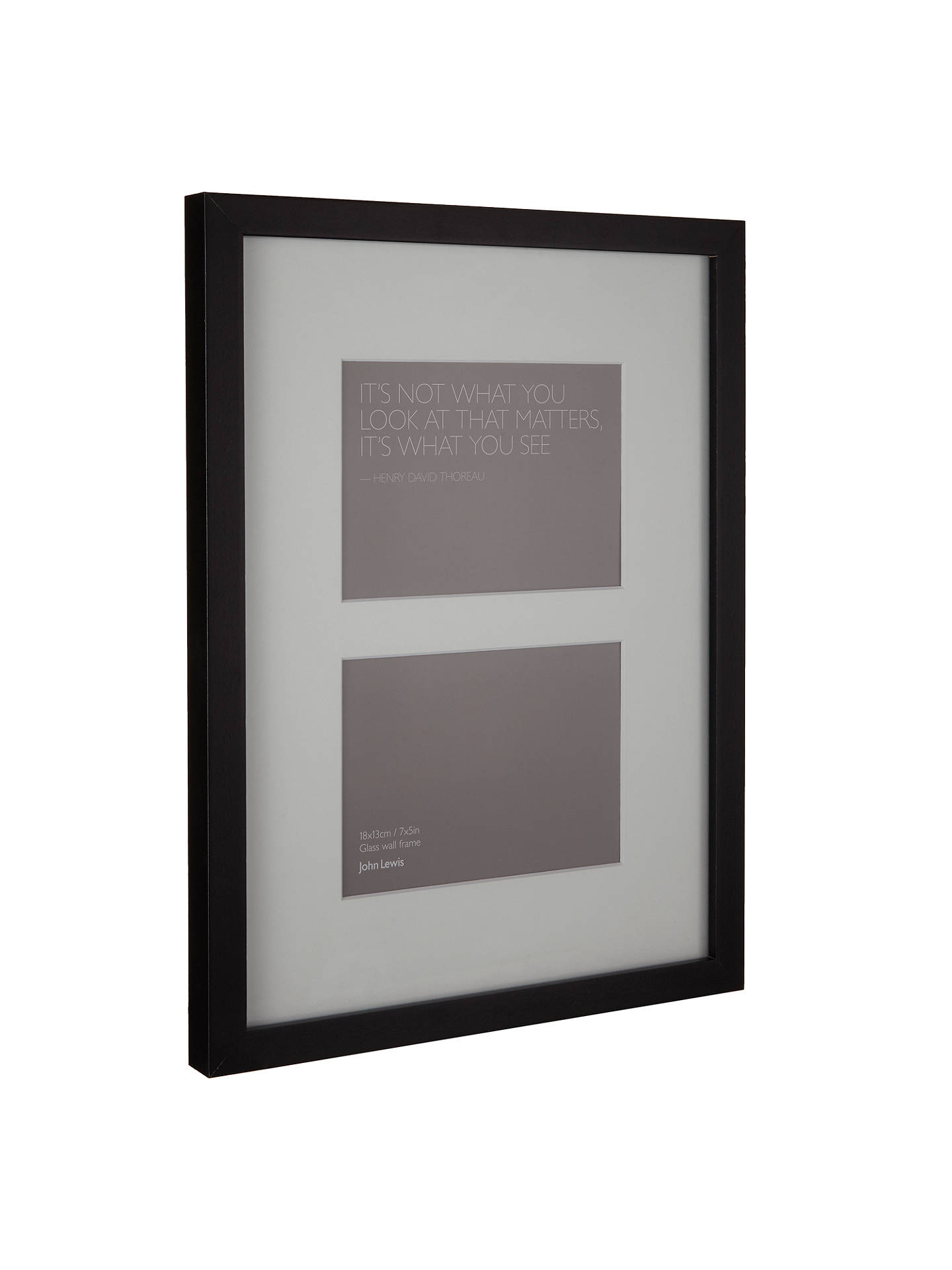 John Lewis & Partners 2 Box Frame & Mount, 5 x 7\