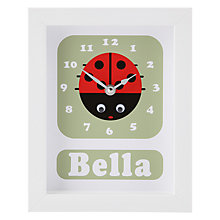 Buy Stripey Cats Personalised Lisbeth Lady Bird Framed Clock, 23 x 18cm Online at johnlewis.com