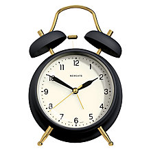 Buy Newgate Brass Knocker Alarm Clock, Petrol Blue Online at johnlewis.com