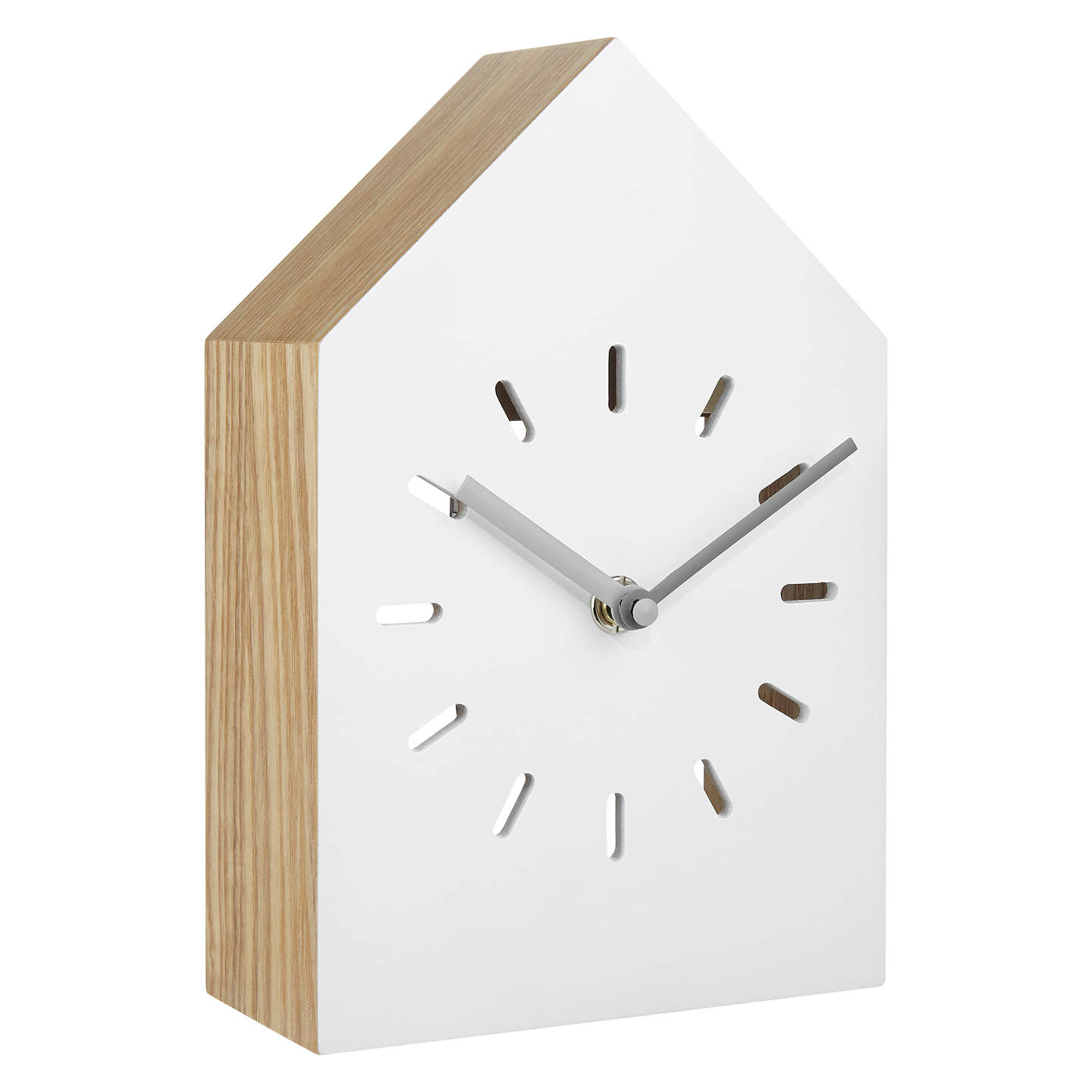 Buyhouse By John Lewis Wooden Clock, White Online At Johnlewiscom