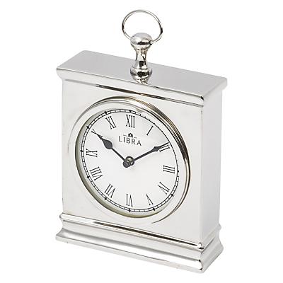 Libra Amesbury Mantel Clock, Silver