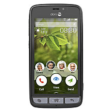 "Buy Doro 8030 Smartphone, Android, 4.5"", 4G LTE, 8GB, SIM Free, Black Online at johnlewis.com"