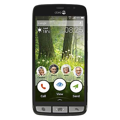 Image of Doro Liberto 825 Smartphone, Android, 5, 4G LTE, SIM Free, 8GB, Black