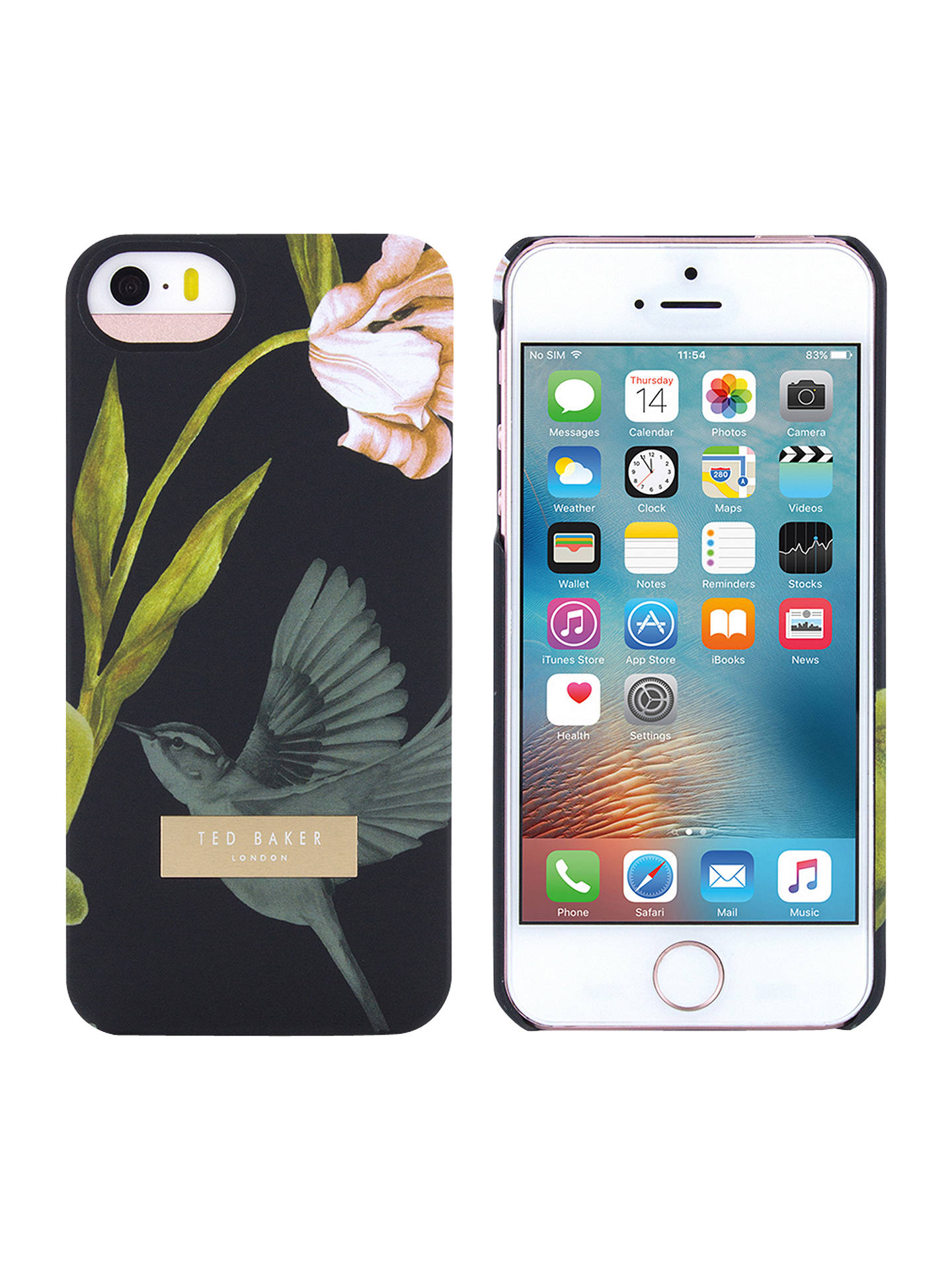 premium selection 0f2bb 06ac1 Ted Baker Orient Floral Case for iPhone SE, Black at John Lewis ...