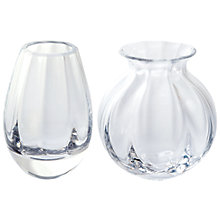 Buy Dartington Crystal English Crystal Mini Vase, Set of 2, Clear Online at johnlewis.com