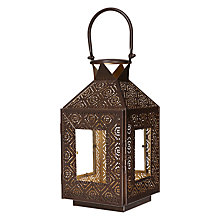 Buy John Lewis Punchwork Lantern, Small, Bronze Online at johnlewis.com