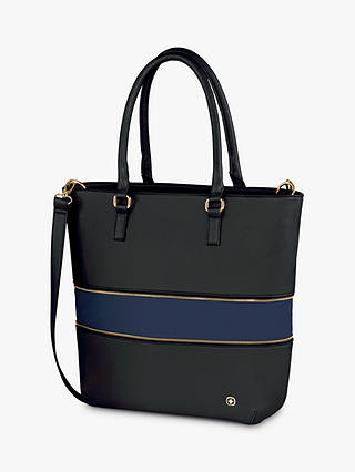 "Buy Wenger Eva Expandable Tote Bag with Removable 13"" Laptop Sleeve, Black Online at johnlewis.com"