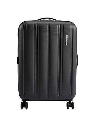John Lewis & Partners Munich 4-Wheel 67cm Suitcase, Black