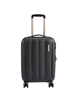 John Lewis & Partners Munich 4 Wheel 55cm Cabin Suitcase, Black